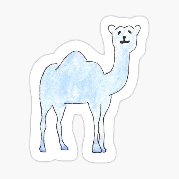 connecticut college camel watercolor Sticker