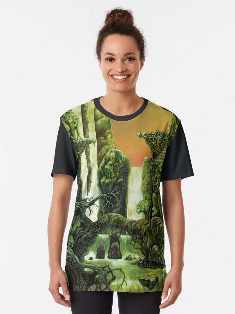 Alternate view of Otherworldly jungle Graphic T-Shirt