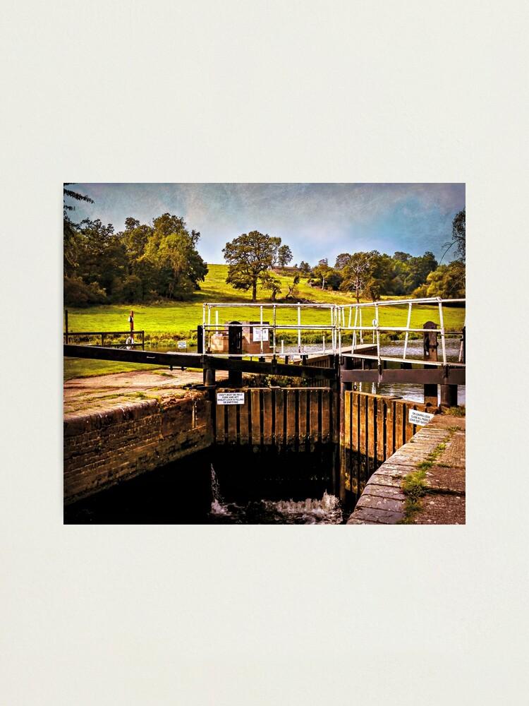 Alternate view of Fladbury Lock.  Photographic Print