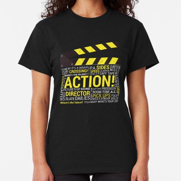 Filmmaker Film Student Director Cinematographer Film Crew Clapper Classic T-Shirt
