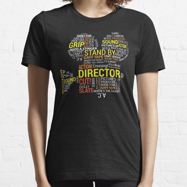 Filmmaker Cinematographer Director Cinematography Filmmaking Gifts - Camera with Word Cloud  Essential T-Shirt