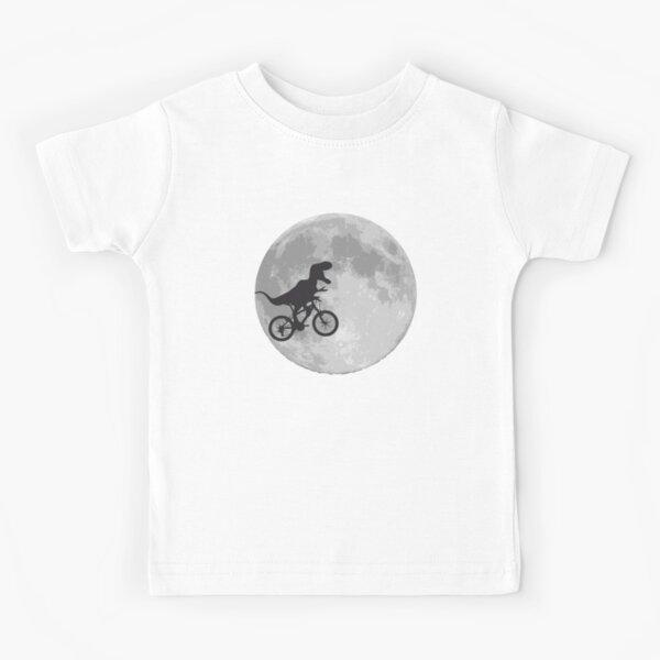 T-rex riding a bike Kids T-Shirt