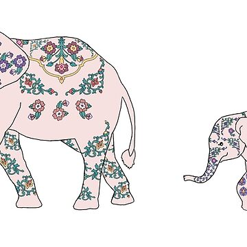 Pink Elephant Parade by redqueenself