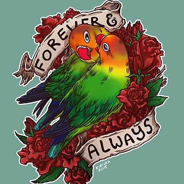 Forever and Always (fischer's lovebird) by kiriska
