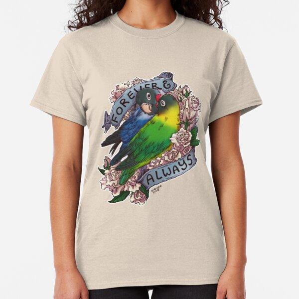 Forever and Always (black-masked lovebird) Classic T-Shirt
