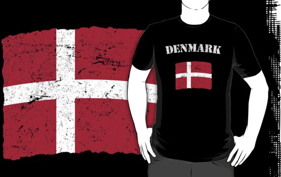 Vintage Denmark Danish Flag