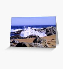 moving water - blue sea Greeting Card