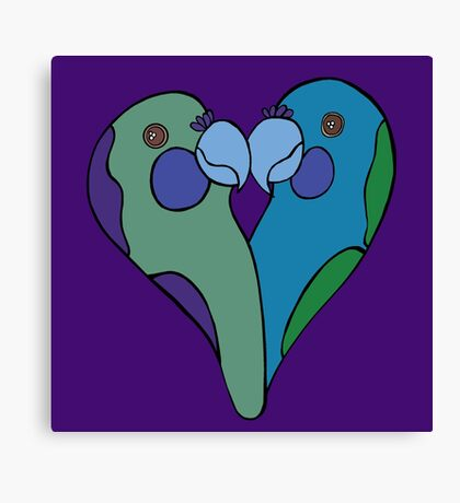 Parrot Heart Canvas Print