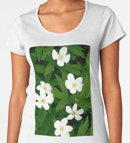 White Flowers Women's Premium T-Shirt