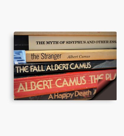 The Pages of Camus Canvas Print