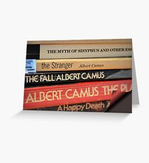 The Pages of Camus Greeting Card