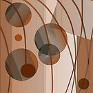 Brown Circles and Lines by marybedy