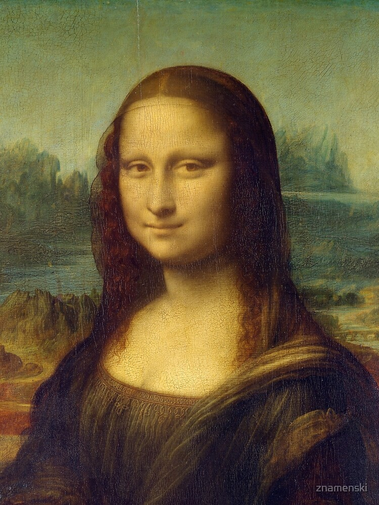 The Mona Lisa is a half-length portrait painting by the Italian Renaissance artist Leonardo da Vinci by znamenski