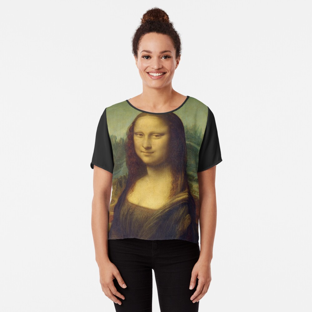 The Mona Lisa is a half-length portrait painting by the Italian Renaissance artist Leonardo da Vinci Chiffon Top
