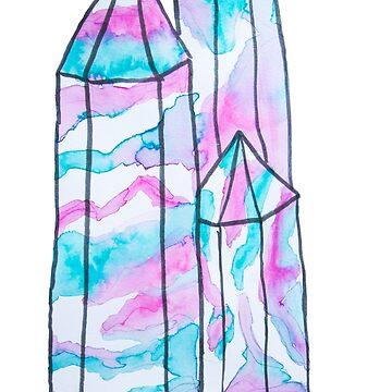 Transgender Pride Crystal by KendraJKantor