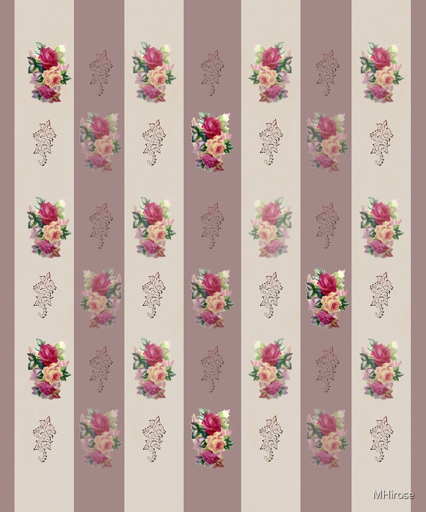 Victorian Floral Print by MHirose