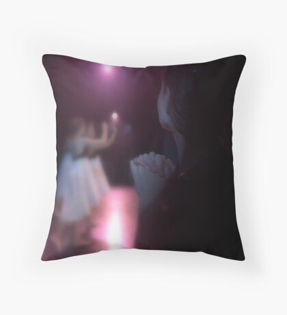 portrait of a teacher Throw Pillow