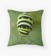 The Caterpillar and Fennel Throw Pillow