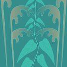 Deco Doodle Aqua by marybedy