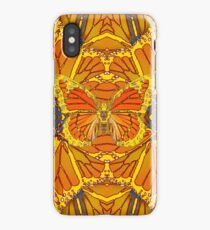 YELLOW-GOLD MONARCH BUTTERFLY PUZZLE  iPhone Case