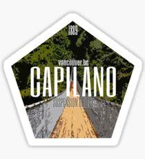 Capilano Suspension Bridge Badge Sticker