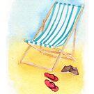 Striped Beach Chair by PrettyGeekChic