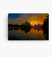 3502 - Xingping Sunset Canvas Print