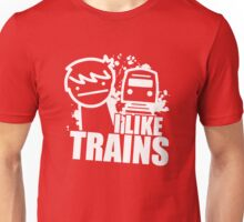 Iliketrains I like trains Unisex T-Shirt