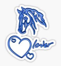 """Horselover""- blue edit Sticker"