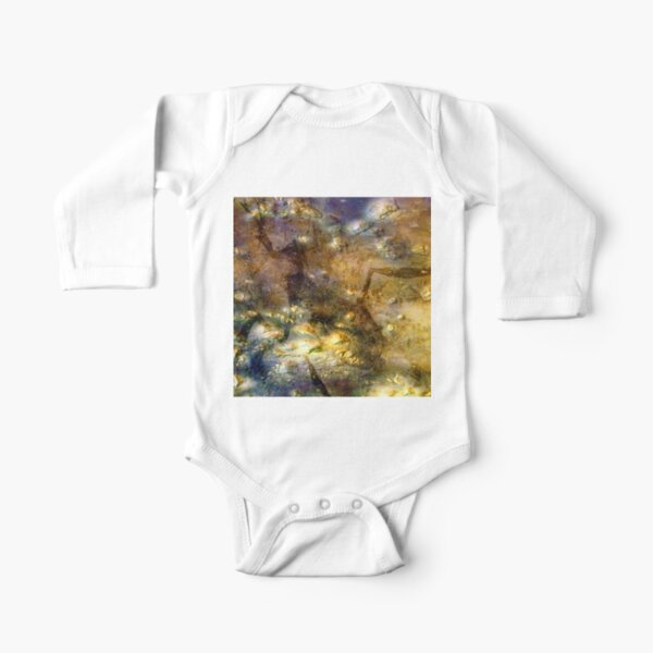 Martian Fossils 3 Long Sleeve Baby One-Piece
