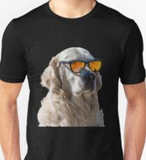 Billy the Golden Retriever in His Sunglasses Unisex T-Shirt
