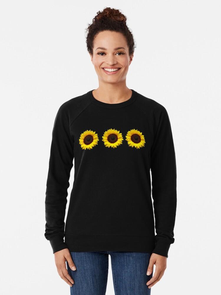 Alternate view of Sunflowers Lightweight Sweatshirt