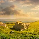 beautiful panorama of Runa mountain at sunset by mike-pellinni