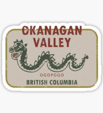 Okanagan Valley British Columbia Vintage Travel Decal Sticker