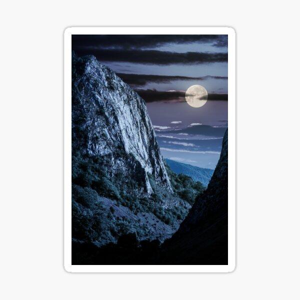 cliffs of Trascau mountains canyon at night Sticker