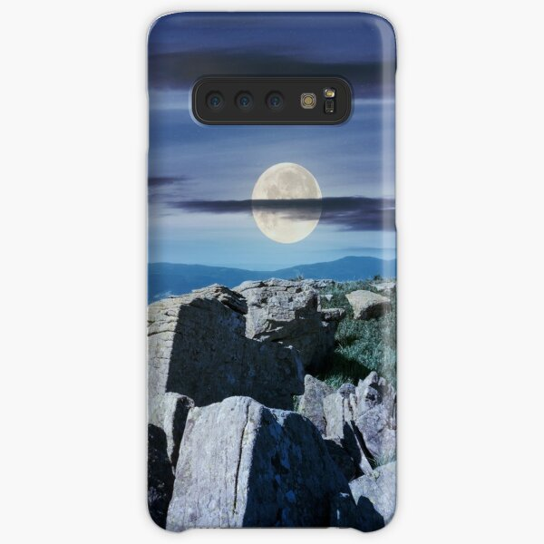 time change over the panorama of Runa mountain Samsung Galaxy Snap Case