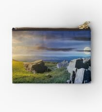 time change over the panorama of Runa mountain Studio Pouch