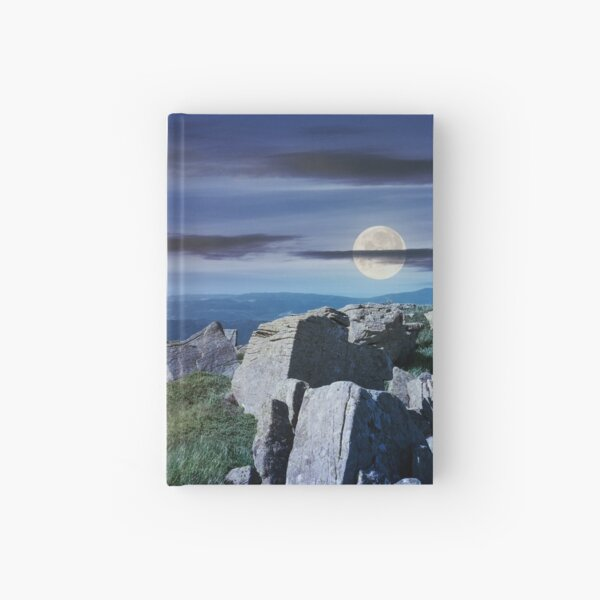 time change over the panorama of Runa mountain Hardcover Journal