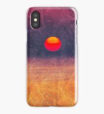 purple digital sunrise background iPhone Case
