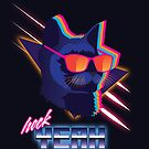 Heck Yeah Retro Cat by Patrick King