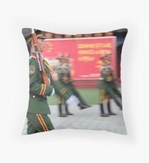 Red Army, Beijing, China Throw Pillow