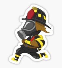 Firefighter hurry. Sticker