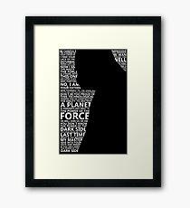 Darth Vader B/W Framed Print