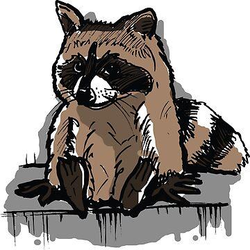 Raccoon of Minnesota on a Skyscraper Ledge Meme by sketchNkustom