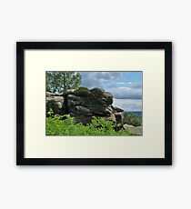 Brimham Rocks and Nidderdale Framed Print