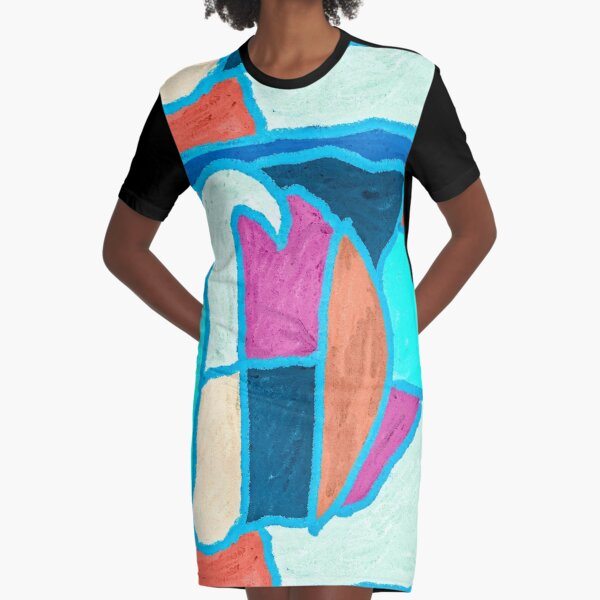 Hopscotch in the Rain Graphic T-Shirt Dress