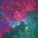 Abstract underwater fractal fantasy flower by blackhalt