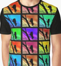 Andy Warhol Inspired Birds Graphic T-Shirt