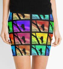 Andy Warhol Inspired Birds Mini Skirt