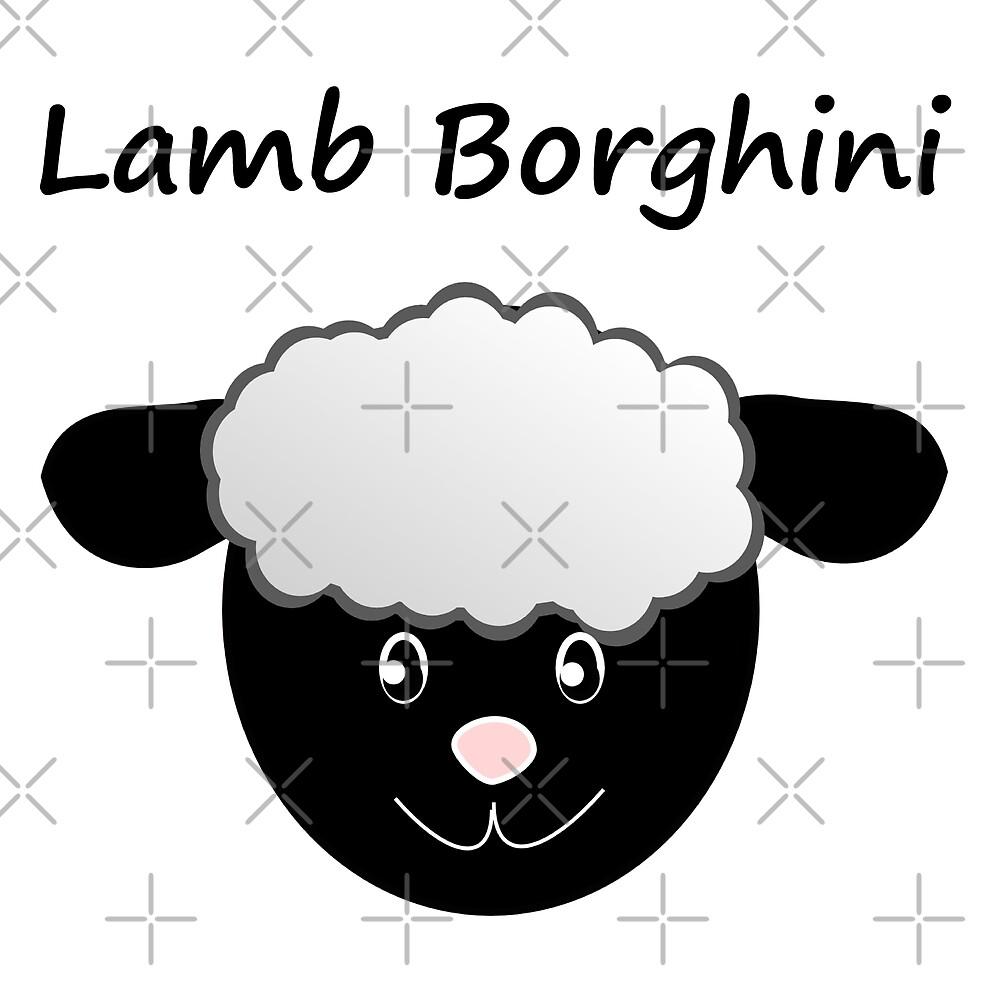 Lamb Borghini funny Sheep Pun by stine1